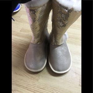 Girls lands end gold boots
